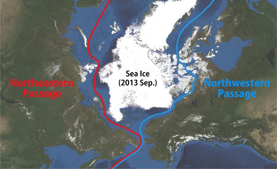 北極海航路、北東航路・北西航路...