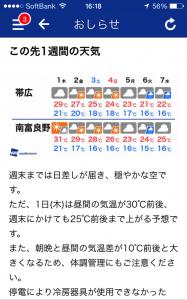 ピンポイント天気サンプル