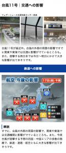 台風時:交通への影響予測