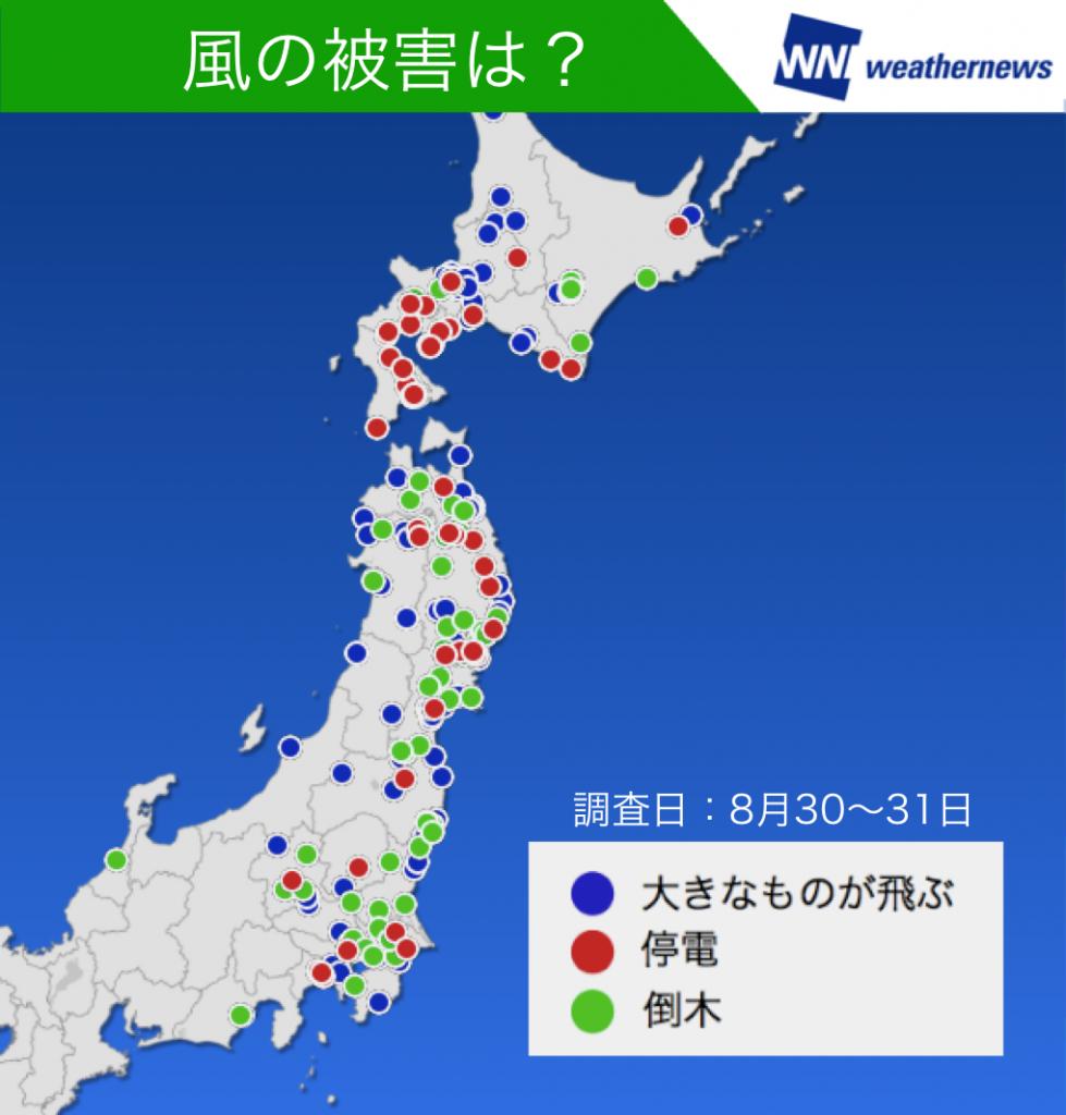 図3:雨・風による被害に関する調査結果