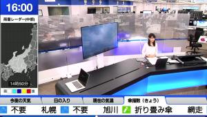 天気予報の現場から最新情報を発信する檜山沙耶キャスター